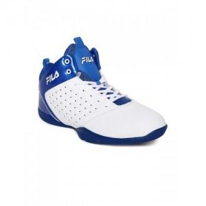 FILA Men White Synthetic Mid-Top ELITE 2 Basketball Shoes