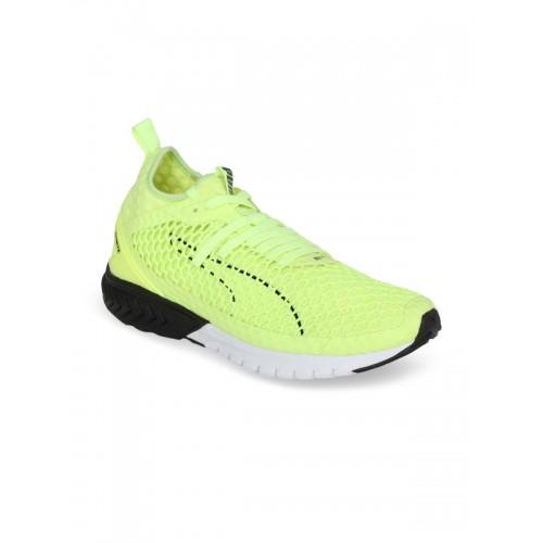 b9f2a87fbc1 Buy Puma Men Lime Green IGNITE Dual NETFIT Running Shoes ...