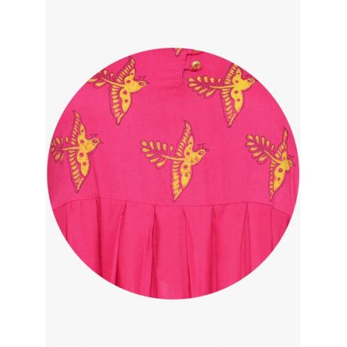 Bitterlime Pink Printed Kurta