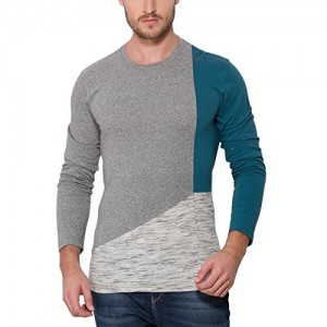 e47940145 Campus Sutra Men s Solid Round Neck Full Sleeve T-shirt. ₹439 Amazon