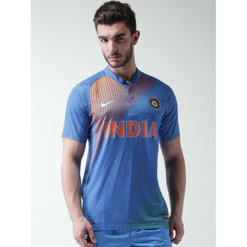 e9e6d03fa Buy Nike Men Blue Printed India SS T20 Repl Jersey online ...