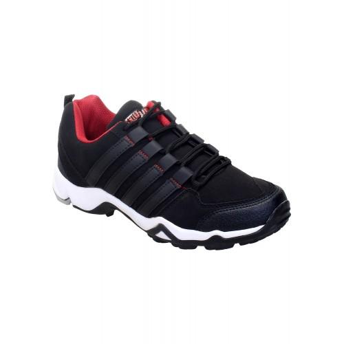 Chiefland black Leatherette sport shoe
