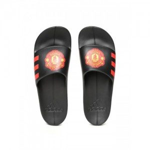 Adidas Men Black Aqualette CF Manchester United FC Printed Sliders