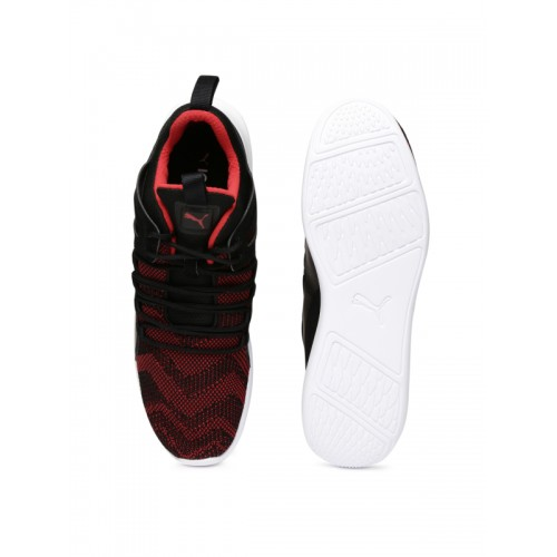 c910a8a4ca1 Buy Puma Men Black   Red SF Evo Cat Mid-Top Sneakers online ...