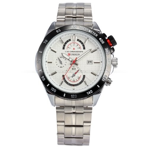 CURREN Analogue White Dial Men's Watch - Cur039
