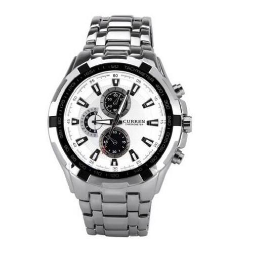 Curren Analog White Dial Men's Watch- M108