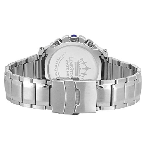 LimeStone Round Analog Dial Watch for Men's- LS2630