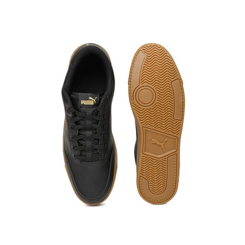 Puma Men Black Court Breaker L Mono Sneakers