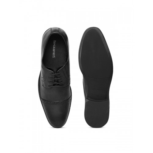 Blackberrys Men Black Leather Formal Derbys