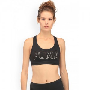 fbba3b1f1f134 Puma Black Printed Non-Wired PWRSHAPE Forever Pad Non Padded Sports Bra