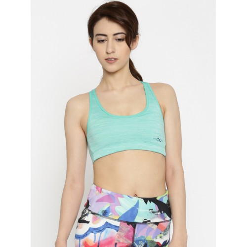 05655b8691bc6 Buy Enamor Green Printed Non-Wired Non Padded Sports Bra online ...