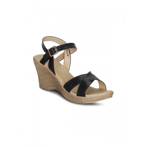 Kielz-Black-Wedge-Sandals