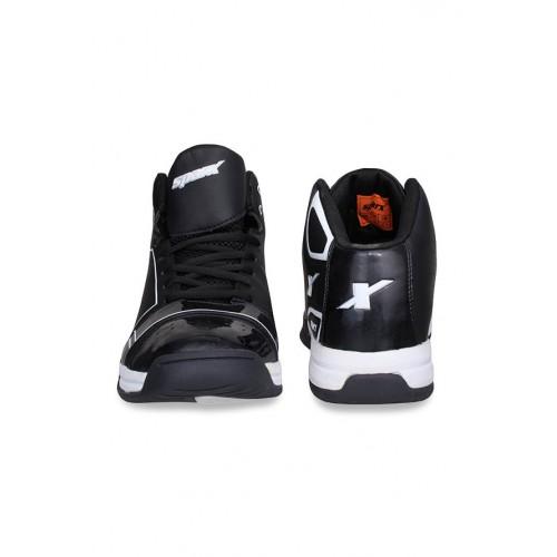 Sparx Black \u0026 White Ankle High Sneakers