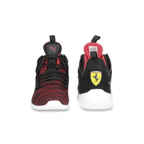 54783e87dcb Buy Puma Ferrari SF Evo Cat Mid Black   Red Ankle High Sneakers ...