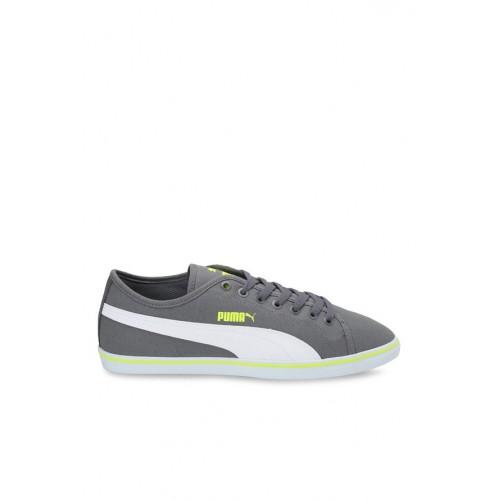 Buy Puma Elsu V2 CV DP Quiet Shade   White Sneakers online ... ec8bcb206