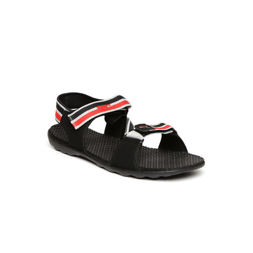 10e94487b17 Buy Puma Silicis DP Black   Red Floater Sandals online