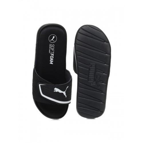 Puma Unisex Black Starcat Sfoam Flip-Flops