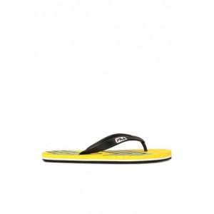 Fila Curve Black & Yellow Flip Flops