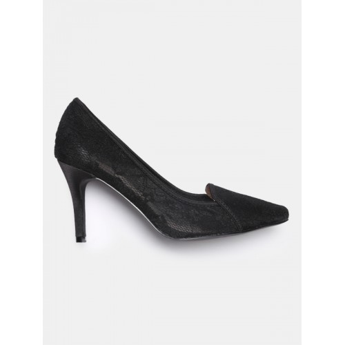77b31cfcce5 Buy DressBerry Women Black Lace Pumps online