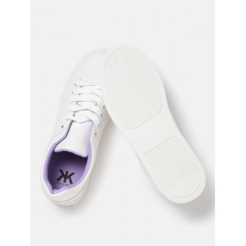 Kook N Keech Women White Colour Changing Sneakers