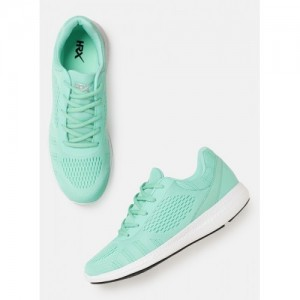 HRX by Hrithik Roshan Green Synthetic Lace Up Running Shoes