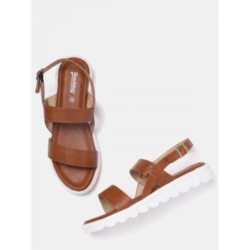 29769e454 Buy Roadster Women Brown Solid Open Toe Flats online
