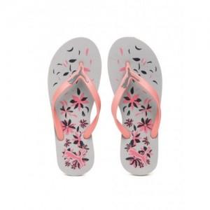 Puma Women Pink & Grey Printed Lucie Flower IDP Thong Flip-Flops