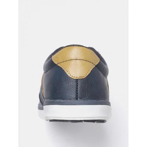 Mast & Harbour Men Navy Solid Sneakers