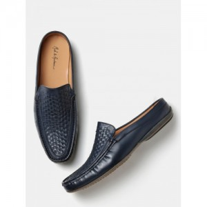 eb8069ab6572b Buy Tommy Hilfiger Men Navy Leather Boat Shoes online