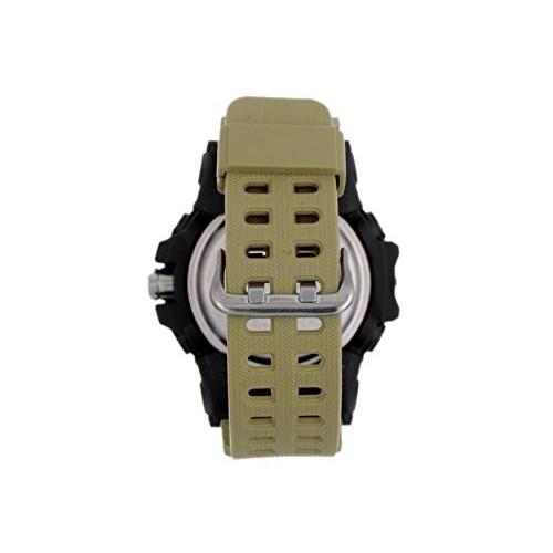 Timewear 12121283 Olive Silicone Analog-Digital Dial Watch