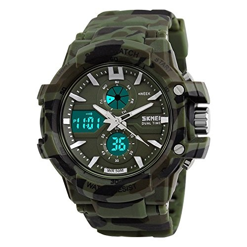 Skmei Dual Time 1120 SKMRK Military Watch - For Men