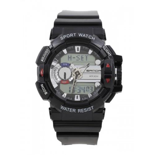4c60706eaf51f9 ... SANDA Men Black Multifunction Analogue and Digital Watch S599BKSLR ...