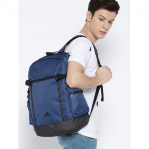 Adidas Men Blue POW S POCK18 Solid Backpack
