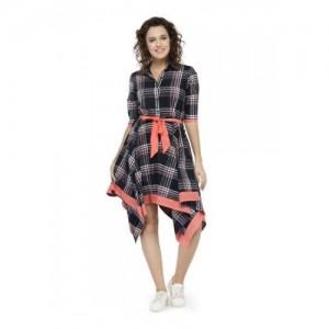 cc4cbaaf1 Hive91 Wrap Dresses Checkered Design Western Dress for Women