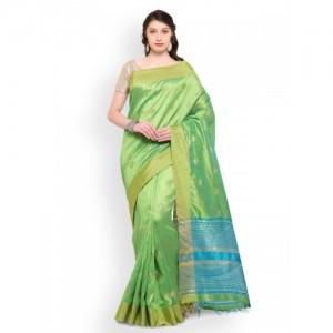 Bhelpuri Green Woven Design Poly Silk Saree