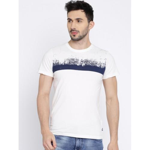 2ec6576702 Buy WROGN Men White Printed Round Neck T-Shirt online | Looksgud.in