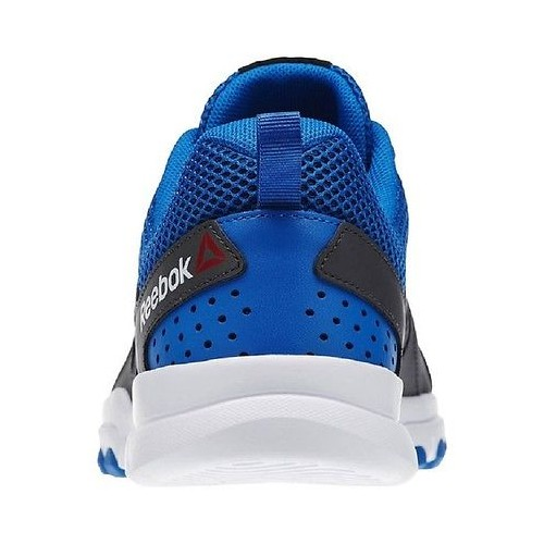 0deb6e3989bfc2 ... Men Reebok Sublite Train 4.0L MT AQ9334 Black Gray Blue White 100%  Authenti ...