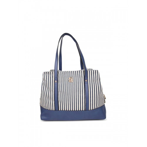 bd58e452cf4a ... Shoulder Bag  U.S. Polo Assn. Women Navy Blue   Off-White Striped  Shoulder ...