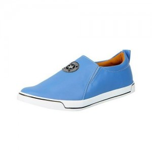 FAUSTO Sky Blue Men's Loafers