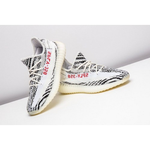 58156011fedce ... Adidas Yeezy Boost SPLY 350 Zebra White V2 White All Sizes 41-45 ...
