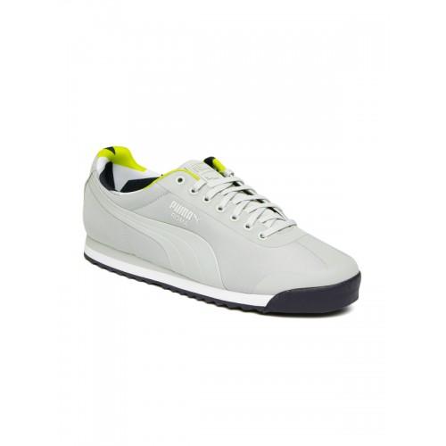 Buy Puma Men Grey Solid Roma Basic Geometric Camo Regular Sneakers ... ded0bedd6
