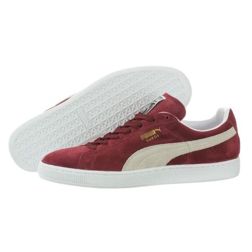 Buy Puma Suede Classic 35263475 Cabernet White Casual Shoes Medium ... af004f627