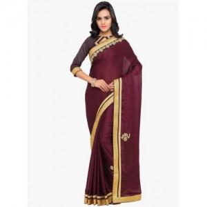 e5343aa053d9e Buy Welcome Fashion Multi Coloured Art Silk Saree online