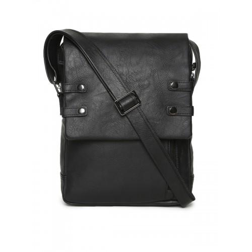 Baggit Men Black Solid Messenger Bag