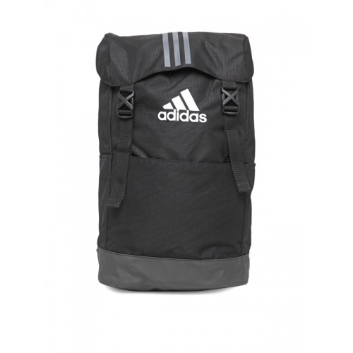 9a832ab7e97c Buy Adidas Unisex Black 3S Solid Backpack online