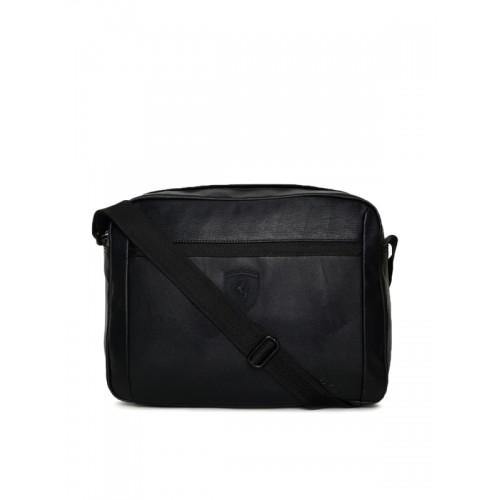 Buy Puma Unisex Black Scuderia Ferrari LS Reporter Messenger Bag ... d832b7d2f