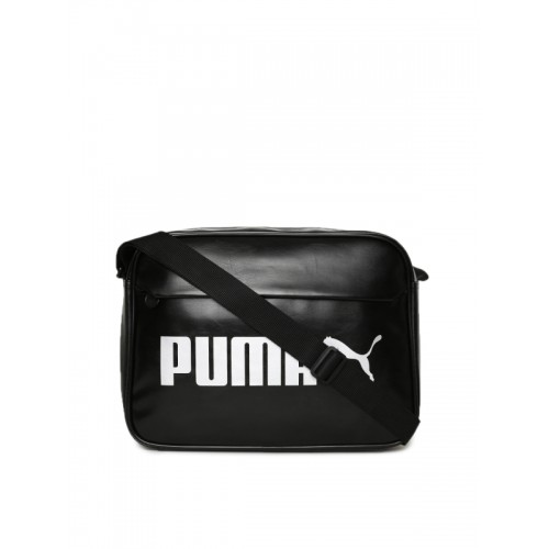 049c4cc7af Buy Puma Unisex Black Printed Campus Reporter Messenger Bag online ...