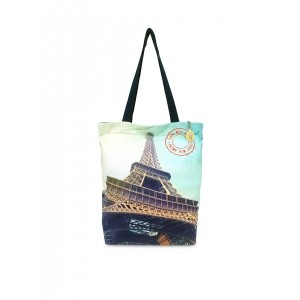 Lemon Trunk Light Blue Printed Canvas Tote