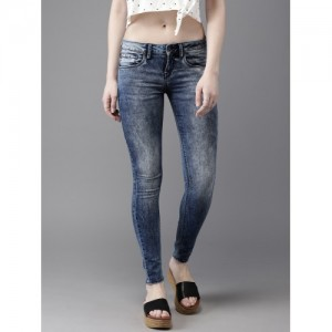 f8a6624de87 Moda Rapido Women Blue Skinny Fit Mid-Rise Clean Look Stretchable  Ankle-length Jeans