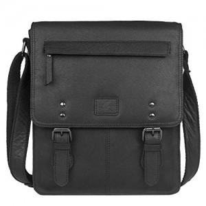 HORNBULL Genuine Leather Black Marco Messenger Bag